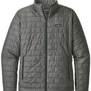 Patagonia gray nano puff jacket with stuff pocket